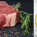 steak and avocado
